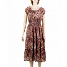 Georgette animal print summer dress
