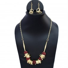 Rings and Rudraksh Beads Necklace Set