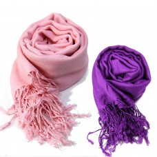 VR Designers classic pink and purple scarfs (Pack of 2)