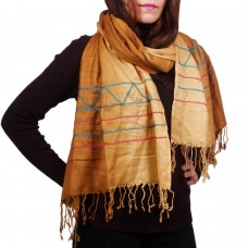 Classic yellow ombre stole