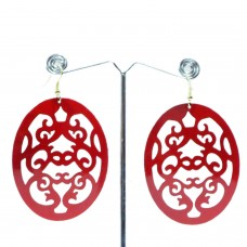 Enameled Red Oval Hangings