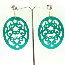 Enameled Green Oval Hangings