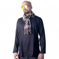 Combo of Black Kurta, Scarf and Sunglasses