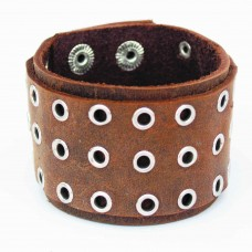 Brown leather wrist band