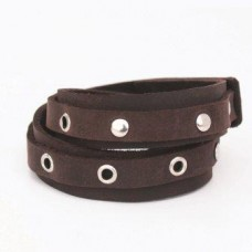Dark Brown leather wrist band