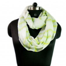 Printed cotton loop scarf