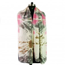 Multicolor printed viscous scarf