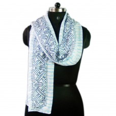 Embroided cotton scarf