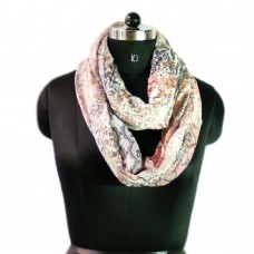 Abstract print loop scarf