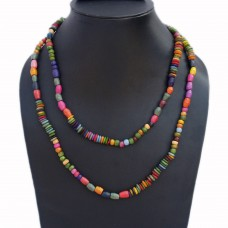 Funky multicolor multibead necklace