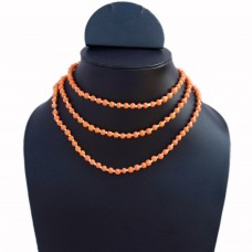 Orange and white long necklace