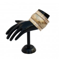 Ethnic adjustable golden cuff