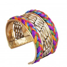 Golden Designer Adjustable Cuff
