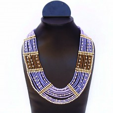 Trendy multicolor neckline necklace