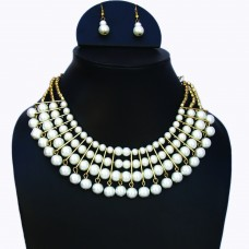 STYLISH FAUX Pearls Necklace Set