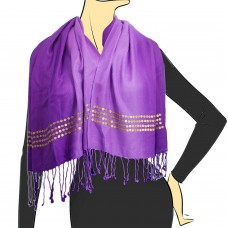 Victorian Purple Ombre Sequined Scarf