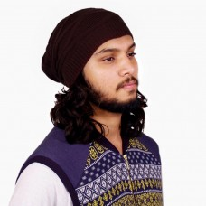 Trendy brown rasta cap