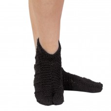 Classic black hand knitted thumb socks