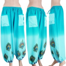 Stylish printed blue harem pants