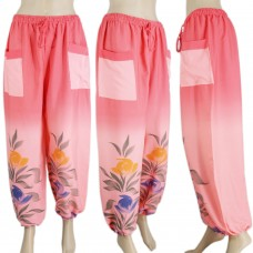 Stylish printed pink harem pants