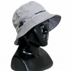 Solid grey bucket hat