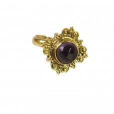 Adjustable purple stone ring