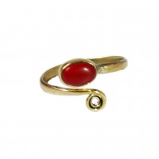 Adjustable elegant red stone ring