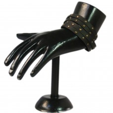 Modish Black leather wrist band