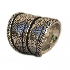 VR Designers Adjustable ethnic silver ring