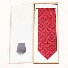 Red Luxury Geometric Jacquard Tie