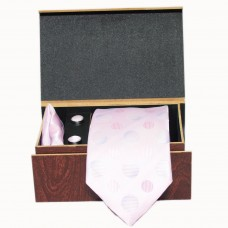 Pink Bubble Textured Tie Set