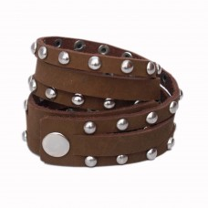 Swanky Brown leather wrist band