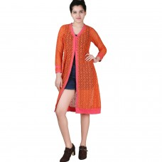 Long Orange lace shrug