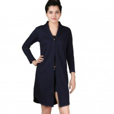 Long Indigo jersey shrug