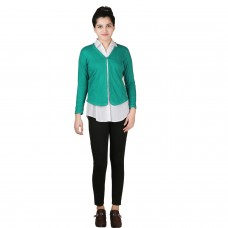 Solid Rama Green Jersey Shrug