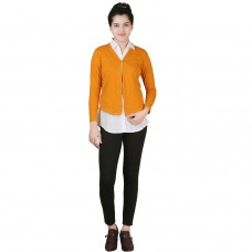 Solid Marigold yellow jersey shrug