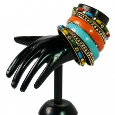 Colorblast peppy metal bangle set