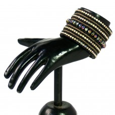 Shimmery black designer adjustable cuff