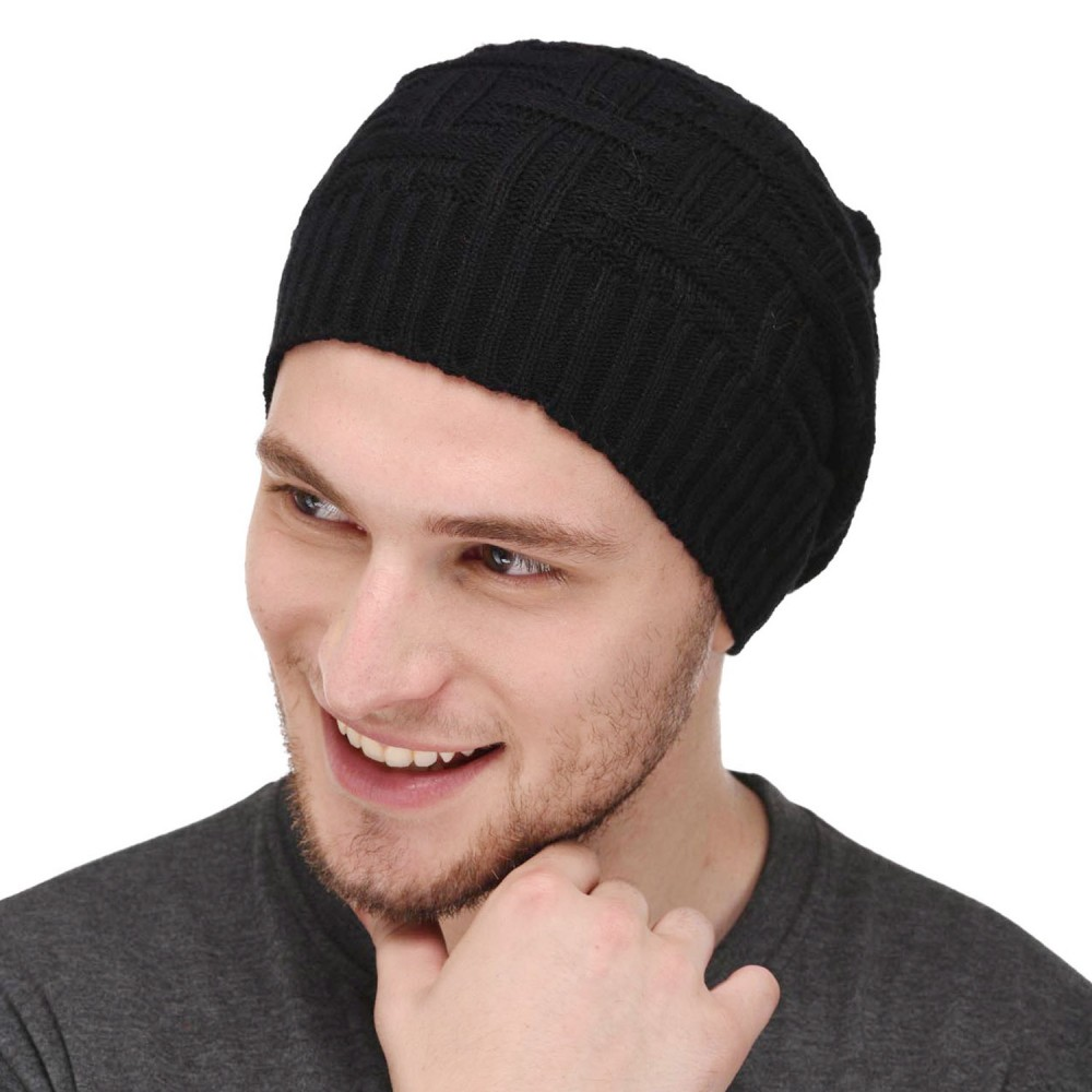 6f363245a stylish winter woolen beanie caps Set of two