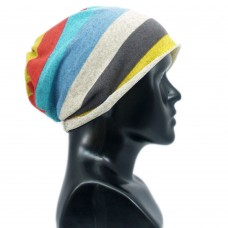Unisex striped printed multipurpose cap
