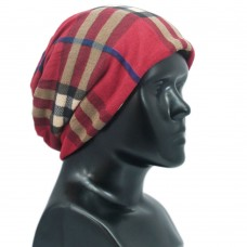 Unisex checkered printed multipurpose cap