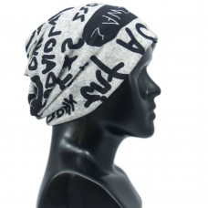 Unisex text printed multipurpose cap