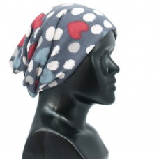 Unisex dots and hearts printed multipupose cap