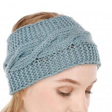 Blue Winter Woolen Womens Headband Earwarmer Earmuff