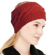 Maroon Winter Woolen Womens Headband Earwarmer Earmuff