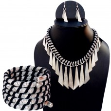 Funky spades necklace set and matching bracelet