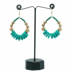 Stylish blue-green hoops