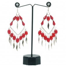 Red-silver contemporary spade hangings