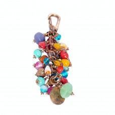 Multicolor multibead handbag charm