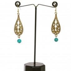 Golden Balinese chandelier earring